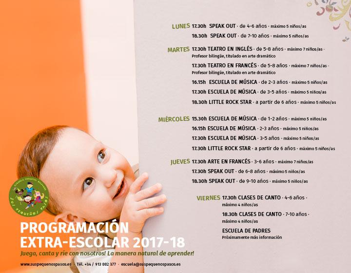 talleres extra-escolares 2017-2018