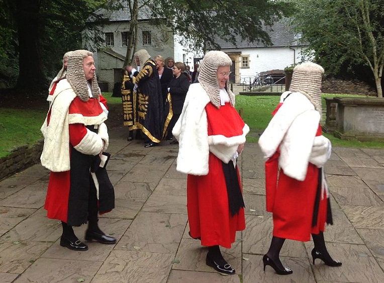 High Court judges wearing traditional red and white robes - photo courtesy of FruitMonkey (CC BY-SA 3.0)