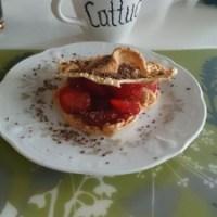 Maräng med jordgubbar