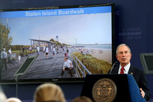 NYC Staten Island boardwalk