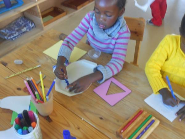 Deep concentration - Ikhaya Labantwana Montessori