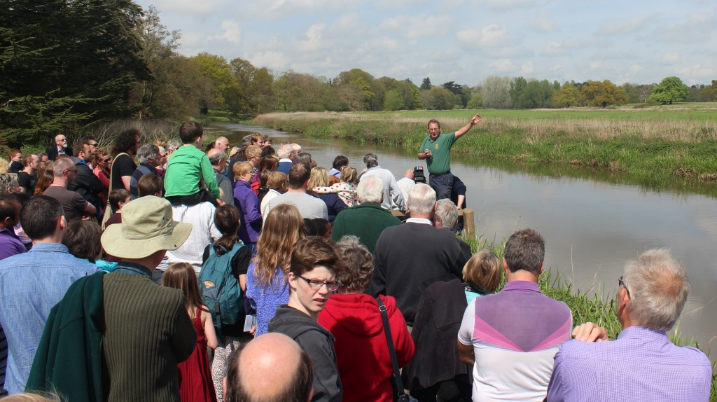 Bob Thurston of the National Trust addressed the crowds
