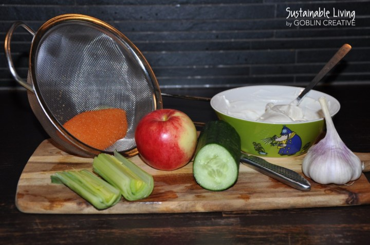 Lax med äpple och gurktzatziki med kalix löjrom