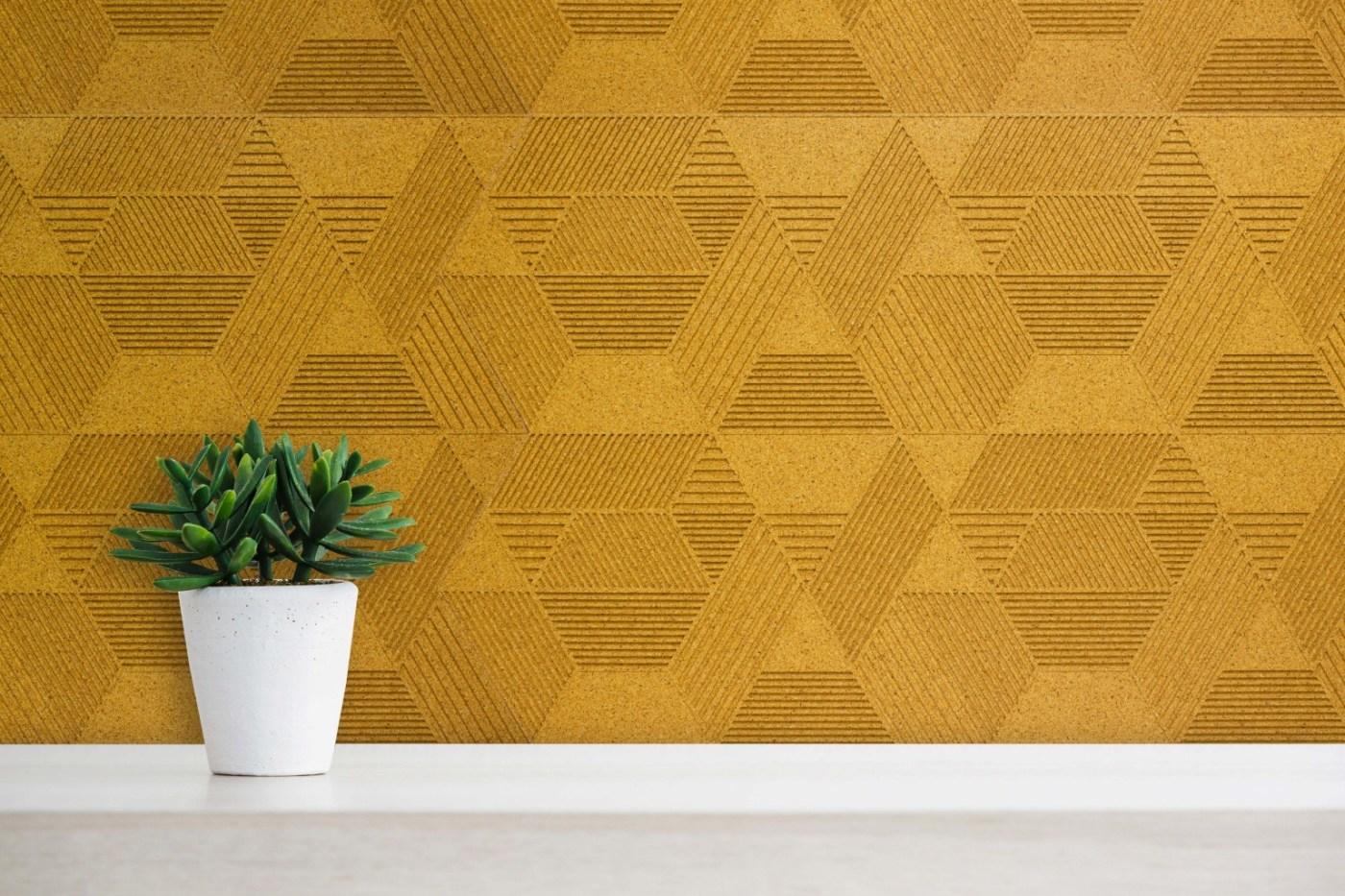 Geometric - Yellow - Closeup