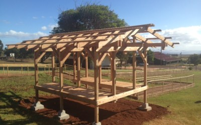 Greenhouse for Maunaloa Elementary!