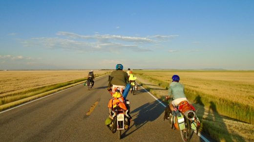 Touring Plays on Bicycle Across a Shifting Landscape