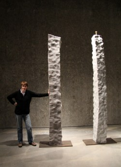 Eileen MacDonagh with her Ogham Stones 2012
