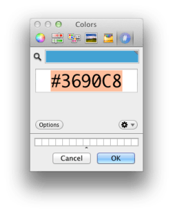 The Hex Color Picker provides essentially the same functionality as Digital Color Meter