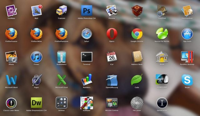 Launchpad on Aug. 26 — I have my apps arranged just how I want them.