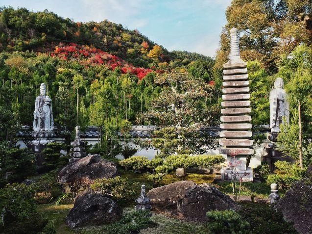 066 - Temple et montagne Momiji