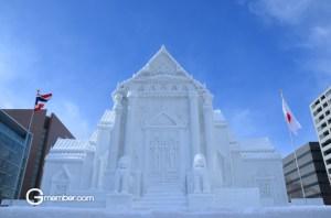 หิมะจำลองอุโบสถ วัดเบญจมบพิตรฯ