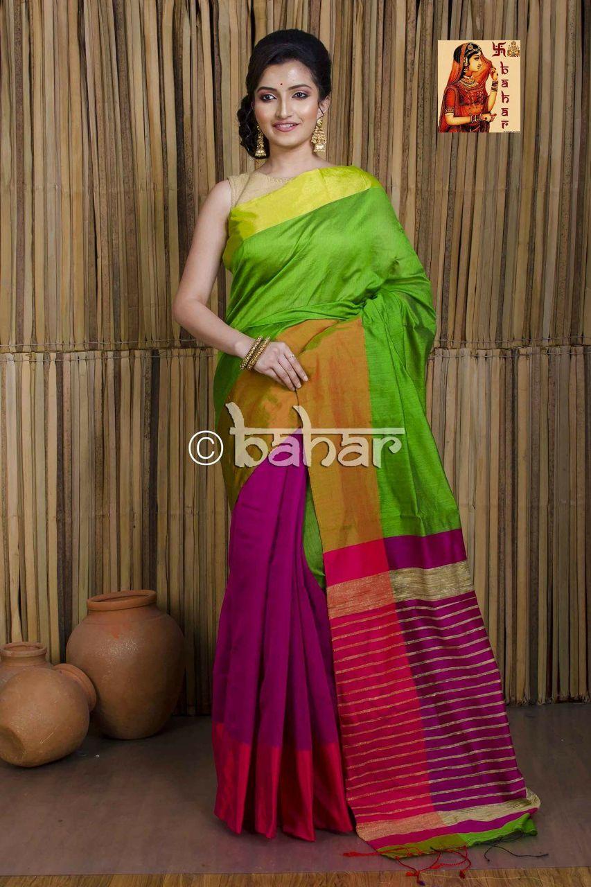 Mahapar Saree Cotton Silk Saree BP available MBSSRE-RDP-263