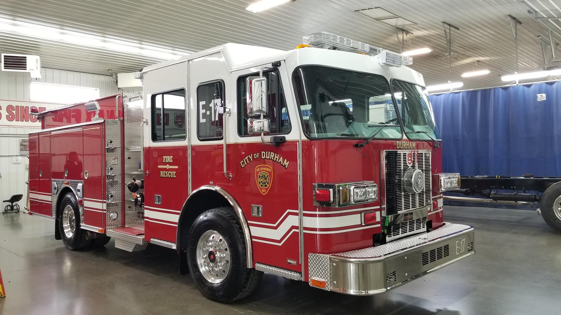 Durham Fire Department New Fire Apparatuses Sutphen