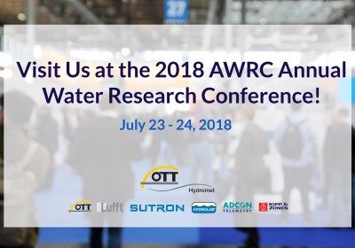 Visit us at the 2018 AWRC Annual Water Research Conference!