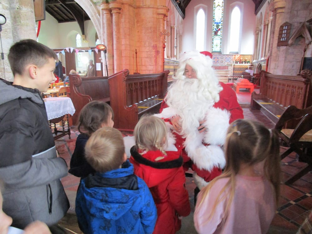Santa visits Sutterton Parish Church