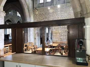 Servery area from inside kitchen