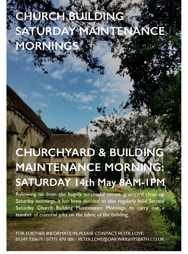 Church Saturday Maint Mornings poster