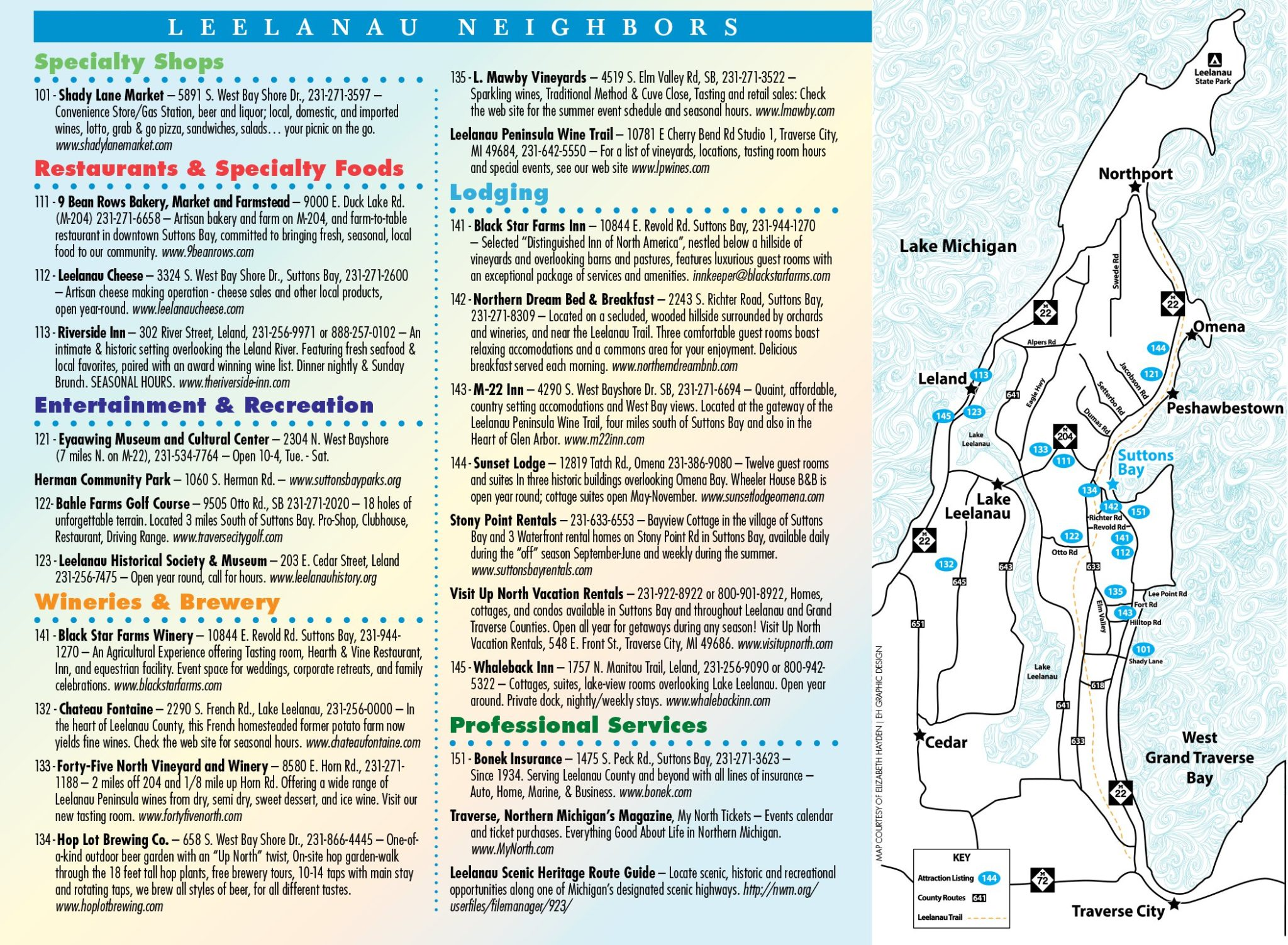 Sutton Bay Michigan Map.Suttons Bay Village Map Suttons Bay Chamber Of Commerce