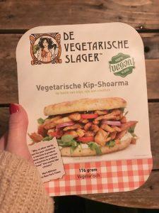 Vegetarische kip-shoarma van de vegetarische slager