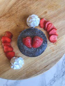vegan lava cakes