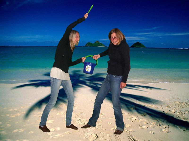 Shedhalle Sommeratelier Thema Strandurlaub: Zank um den Sandeleimer