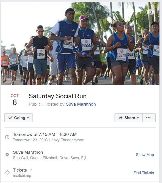 Saturday 6th Oct 2018 run
