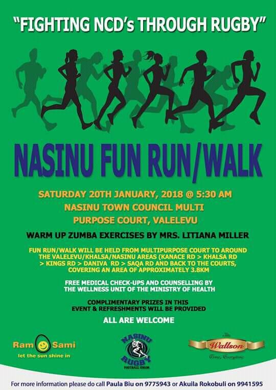 Nasinu Fun Run/Walk - Saturday 20th January, 2018