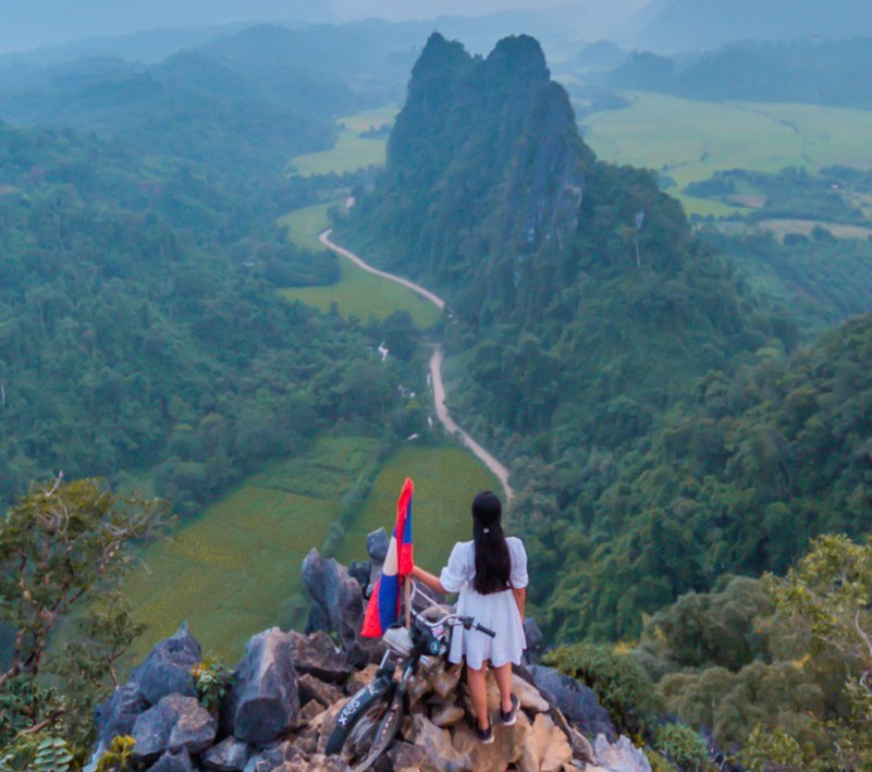 Things to do in Vang Vieng - A scenic painting in Laos
