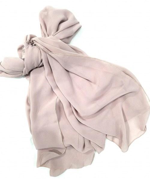 plain chiffon scarf nude full picture