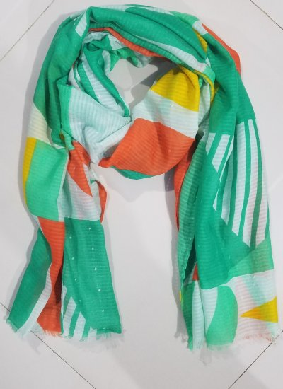 Multi Lawn Scarf - Multi Color 3 - Full Picture