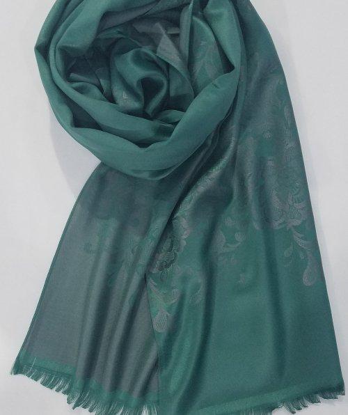 Self Printed Silk Scarf – Sea Green – Full Picture