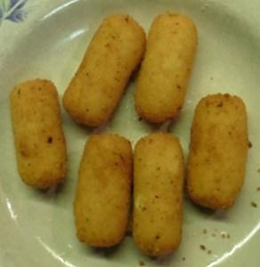 Aardappelkroketjes gebakken