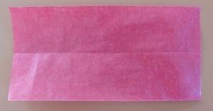 Lotus bloem papier in tweeen + benodigdheiden bloem