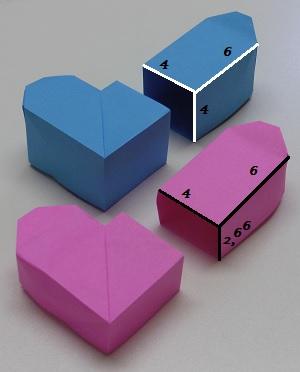 Papier op maat beide harten doosjes