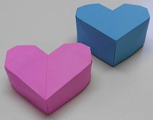 Papier op maat harten doosje andere maten geven