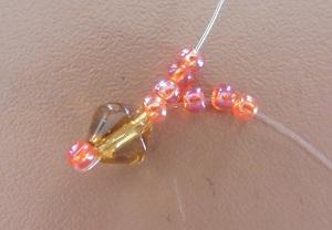 Armband met kralensluiting iedere draad 3 kralen