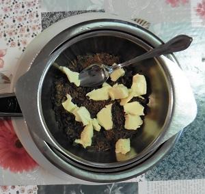 Chocolade taart eiwit pure chocolade met boter smelten