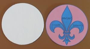 Logo met decoupage lijm