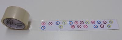 Stickers maken afbeelding afplakken met plakband