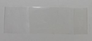 Stickers maken groot plakband met plakende kant naar boven