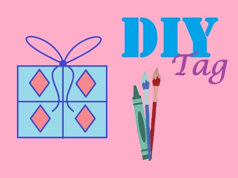 DIY tag met cadeautje