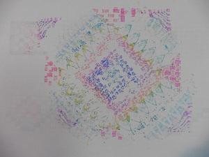 Twinmarkers doodle paper drukt door