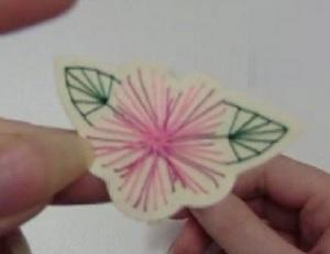 borduursel decoratie bloem weekoverzicht