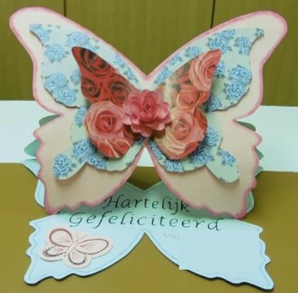 vlinder kaart DIY tag