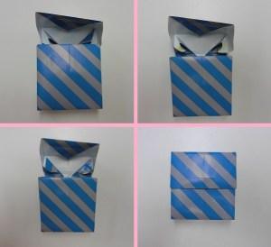 Inpakken speciaal Doosje met klep plakken