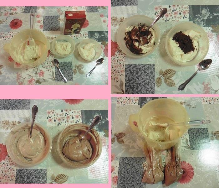 luipaard-cake-beslag-verdelen-en-kleuren-met-cacao