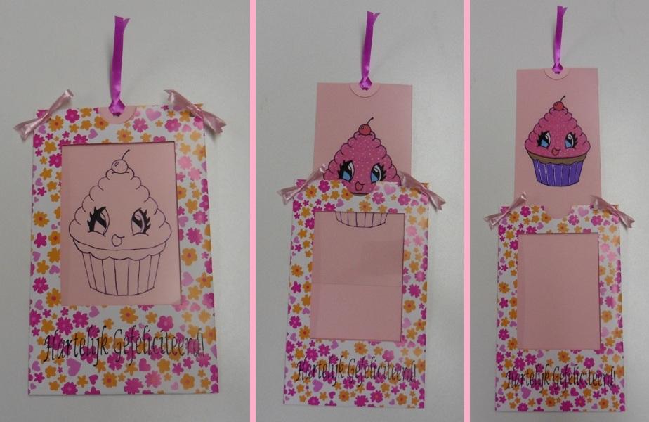 magic kaart met cupcake
