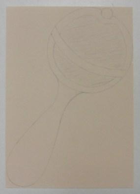 Schutkaart baby rammelaar op basis papier 2