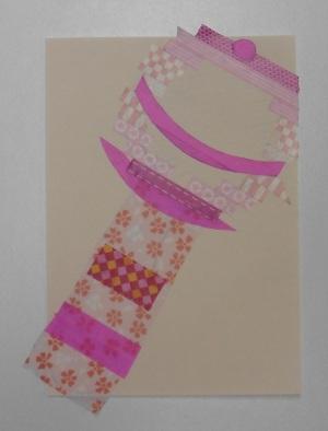 Schutkaart baby rammelaar washi tape