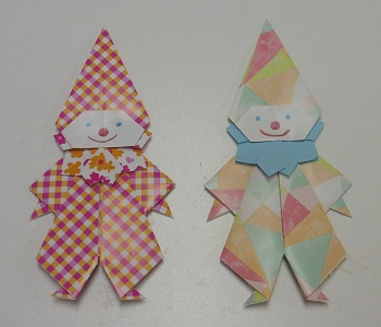 Origami clown